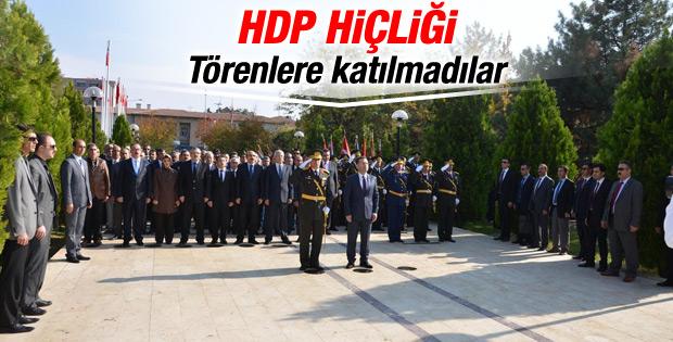 HDP'li başkanlar Diyarbakır'da bayram törenine katılmadı