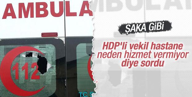 HDP'li vekil hastane açılışının neden geciktiğini sordu