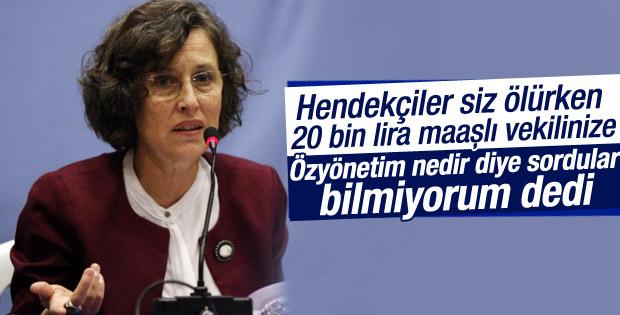 HDP'li vekil özyönetim nedir sorusunu cevaplayamadı