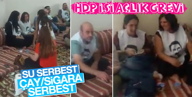HDP'lilerin açlık grevinde su, çay ve sigara serbest
