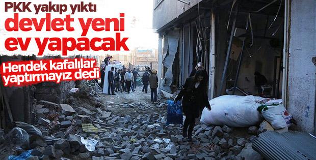 HDP'liler vatandaşa yeni ev yapılmasını istemiyor