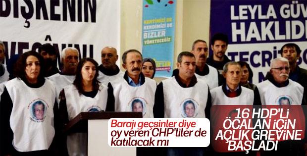 HDP'liler Abdullah Öcalan için açlık grevinde