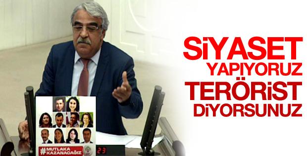 HDP'li Mithat Sancar'ın terörist diyorsunuz isyanı
