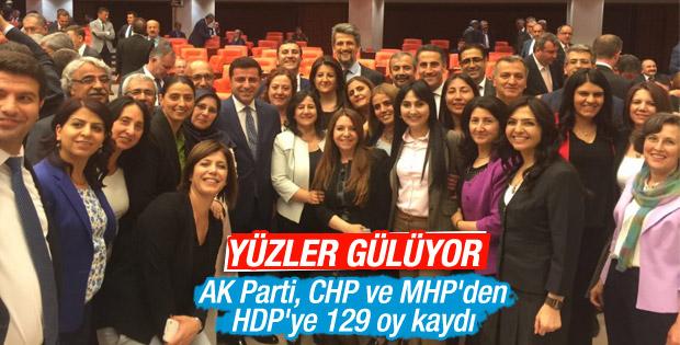 HDP'li vekillerden dokunulmazlık pozu