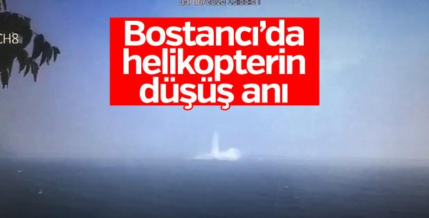 Bostancı'da helikopterin düşme anı