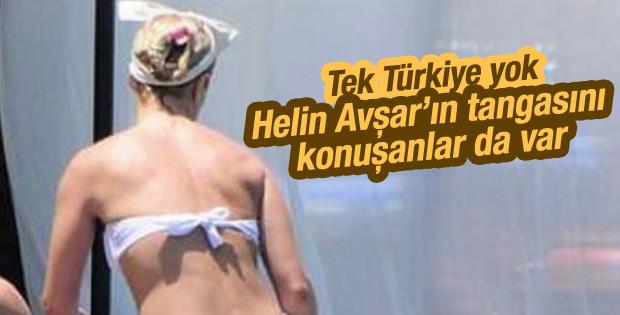 Helin Avşar tanga bikini giydi