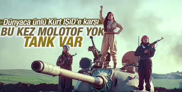 Kürt sanatçı Helly Luv'un yeni klibi savaş meydanında