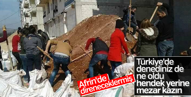 PKK Afrin'deki teröristlere hendek talimatı verdi