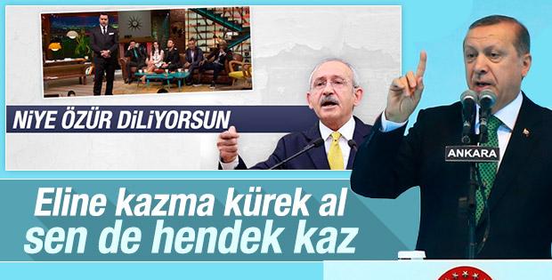 Erdoğan'dan Kılıçdaroğlu'na: Sen de hendek kaz
