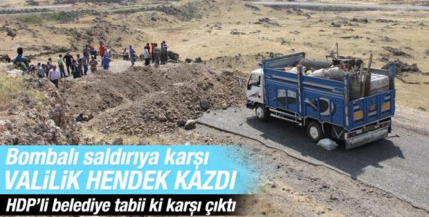 Ağrı'da PKK'ya karşı hendekle önlem alındı