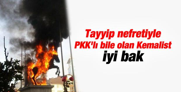 İstanbul'da olaylı Kobani eylemi