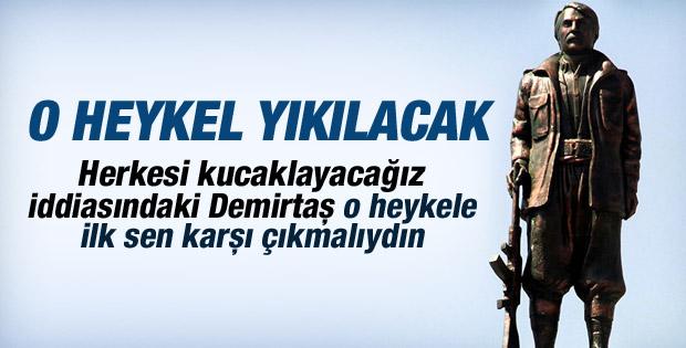 Diyarbakır'a dikilen PKK'lı heykeli için karar çıktı