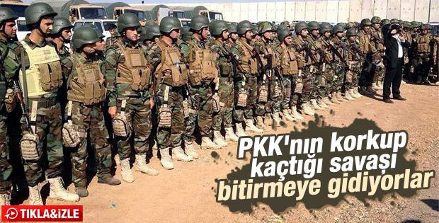 Kobani'ye geçecek peşmergeler yola çıktı