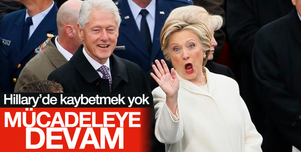Hillary Clinton devir teslim töreninde