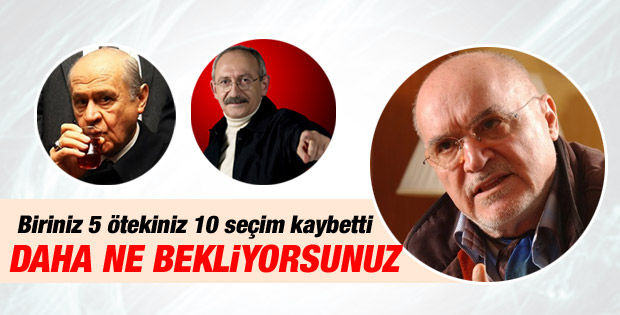 Hıncal Uluç'tan Kılıçdaroğlu ve Bahçeli'ye eleştiri