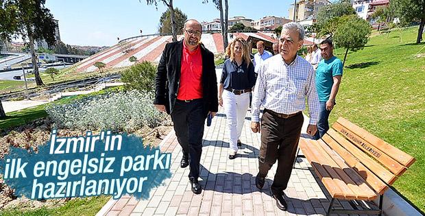 İzmir'in ilk engelsiz parkı inşa ediliyor