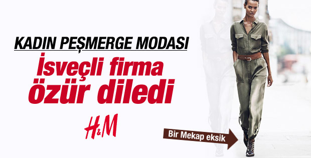 Peşmerge tulumu H&M'e özür diletti