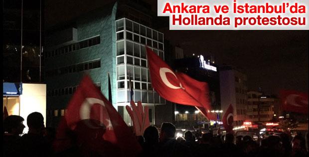 Hollanda temsilcilikleri önünde protesto