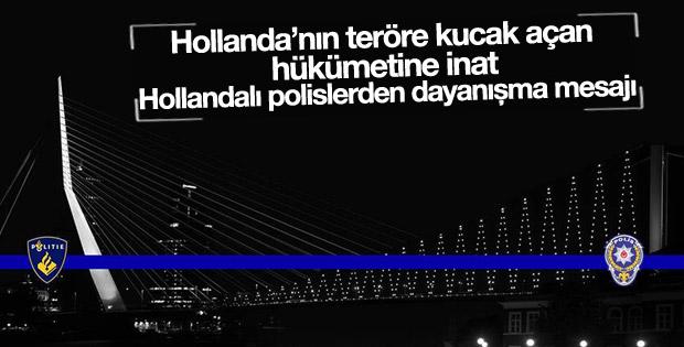 Rotterdam'dan Türk polisine anlamlı destek