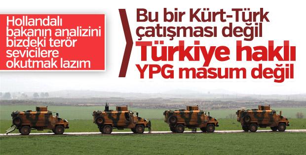 Hollanda Türkiye'yi haklı buldu