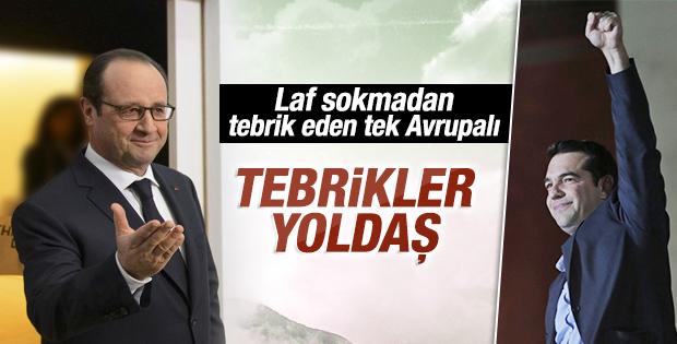 Çipras'ı en sıcak karşılayan AB lideri Hollande oldu