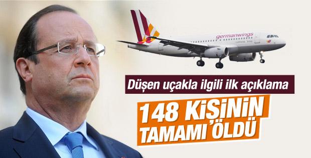 Hollande'den uçak kazasıyla ilgili açıklama