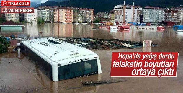 Artvin'de sel felaketinin boyutları ortaya çıktı