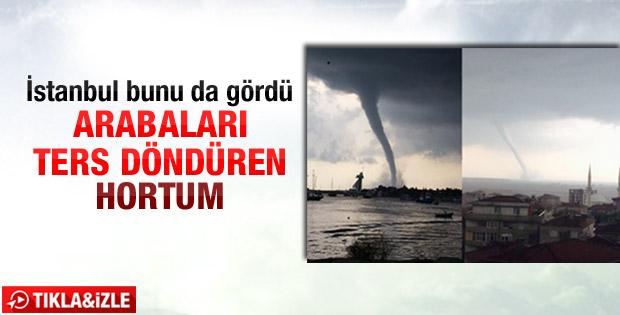 Marmara denizinde hortum oluştu