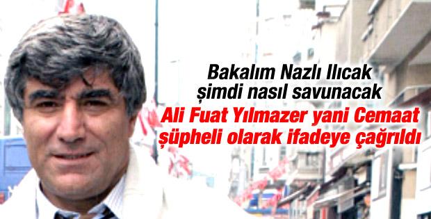 Ali Fuat Yılmazer Hrant Dink cinayetinde şüpheli