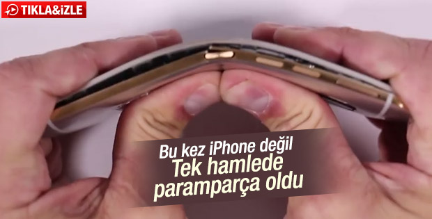 HTC One M9 bükülme testi
