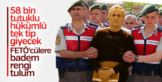 58 bin 500 hükümlü ve tutuklu tulum giyecek