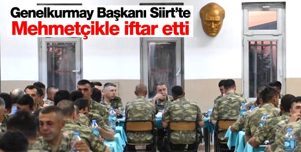 Hulusi Akar kuvvet komutanlarıyla Siirt'te iftar yaptı