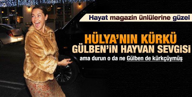 Asla kürk giymem diyen Gülben Ergen'in kürklü fotoğrafı