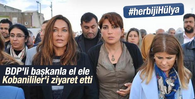 Hülya Avşar Suruç'taki Kobanililer'i ziyaret etti