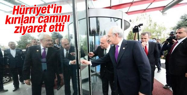 Kılıçdaroğlu, Hürriyet gazetesini ziyaret etti