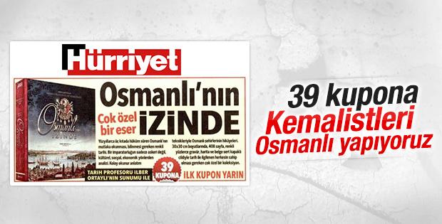 Hürriyet gazetesinden kuponla Osmanlı'nın İzinde kitabı
