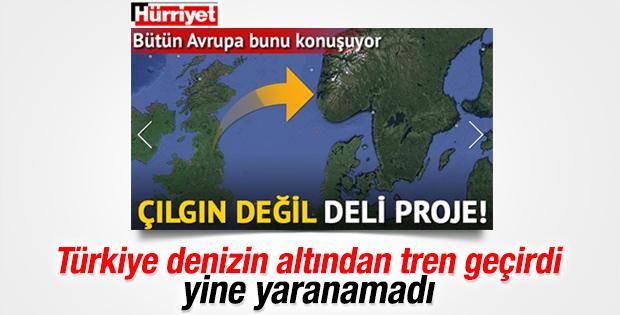 Marmaray düşmanı Hürriyet'in deli projesi
