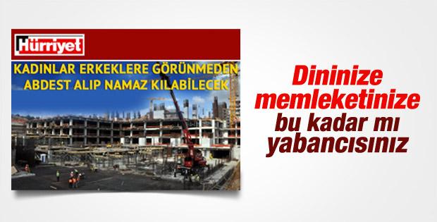 Hürriyet'in güldüren Çamlıca Camisi haberi