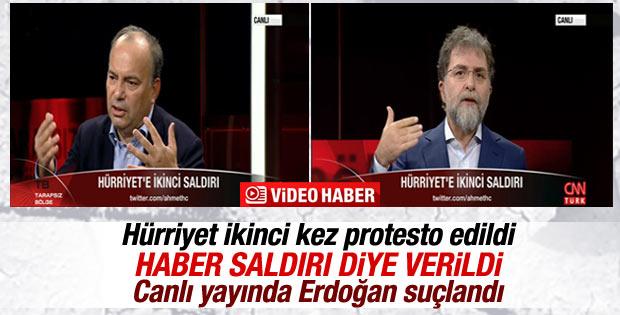 Hürriyet gazetesi binası ikinci kez protesto edildi