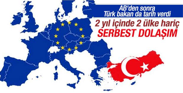 Mevlüt Çavuşoğlu vizesiz Avrupa için tarih verdi
