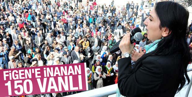HDP'nin Van mitingine neredeyse kimse katılmadı