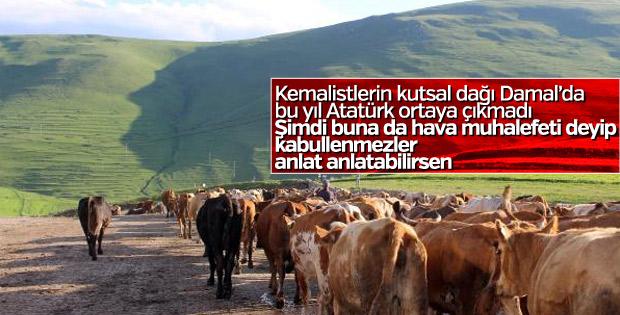 Atatürk'ün silüetine hava şartları engeli