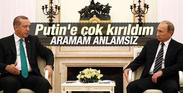Cumhurbaşkanı Erdoğan Putin ile görüşmeyeceğini söyledi