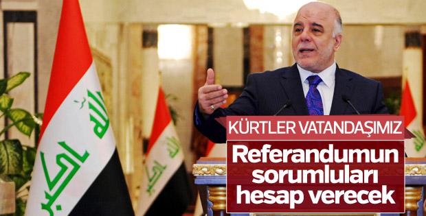 Irak Başbakanı İbadi'en referandum açıklaması