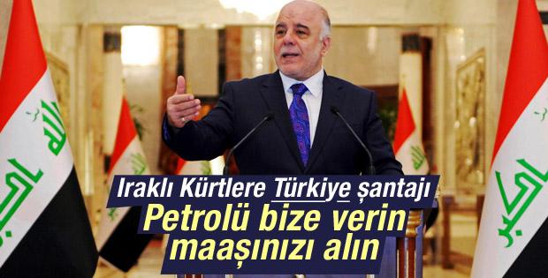 İbadi: Kürtler petrolü bize verirse maaşlar ödenir