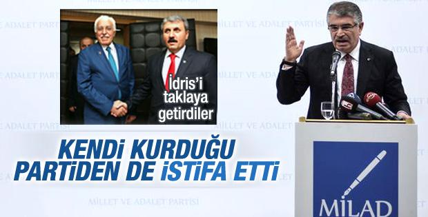 İdris Naim Şahin partisinden istifa etti