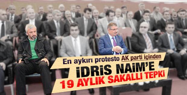 İdris Naim'i protesto eden AK Partili vekil