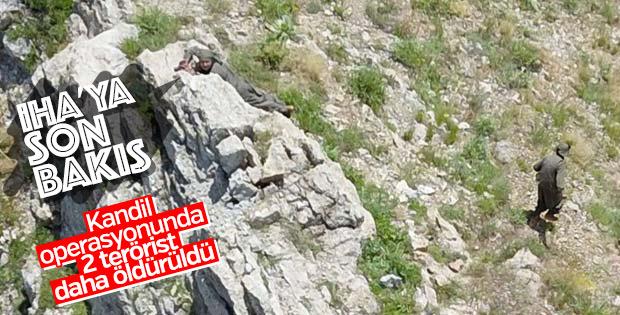 Kuzey Irak'ta İHA'ya yakalanan iki teröristin sonu
