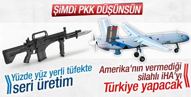 Davutoğlu: Yerli silahlarda seri üretime geçilecek