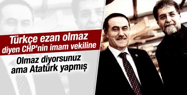 CHP'li İhsan Özkes'ten Türkçe ezan çıkışı